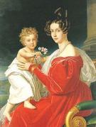 フランツ・ヨーゼフを抱くゾフィ大公妃