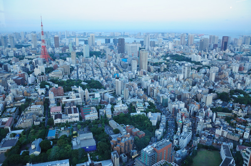 東京タワーと東京湾_