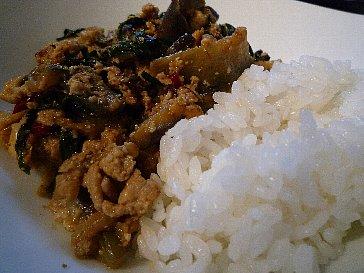 091028茄子と荒野豆腐の麻婆炒め