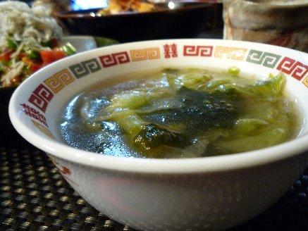 100416レタスとのりのスープ