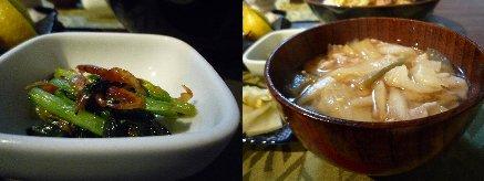 100730小松菜&味噌汁