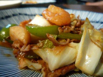 100812野菜炒め