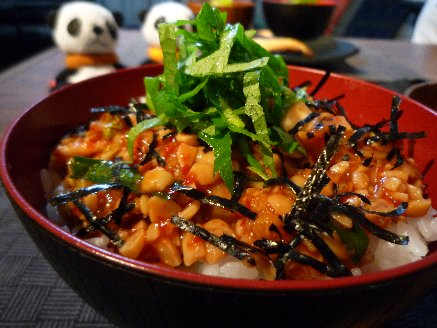 100908納豆キムチ丼