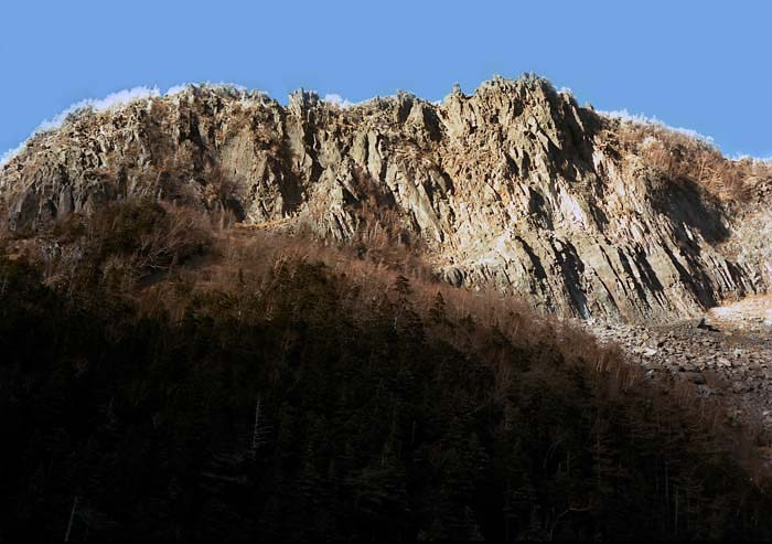 稲子岳南壁