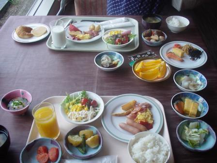 小樽朝里クラッセホテルでの朝食