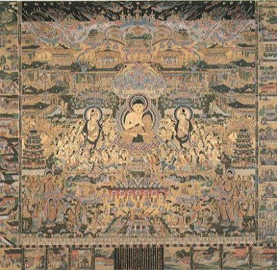 綴織当麻曼荼羅図