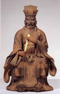 金剛山寺 木造閻魔王倚像