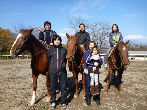 白州にて乗馬