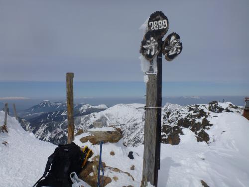 赤岳山頂2012.2.22