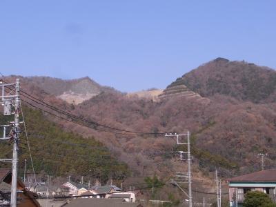 削られた山
