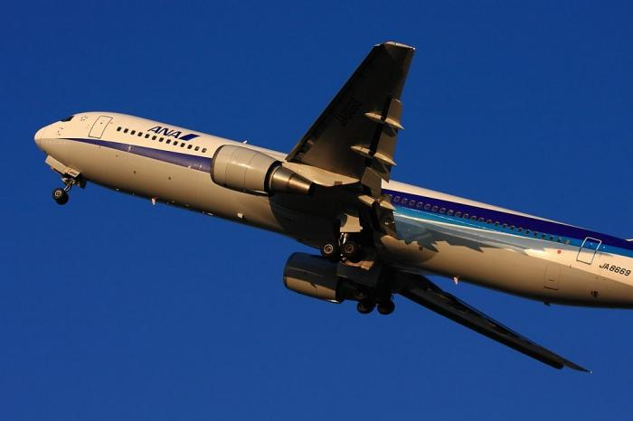 ANA B767-381 ANA32@こども文化科学館付近(by 40D with EF100-400/4.5-5.6L IS)