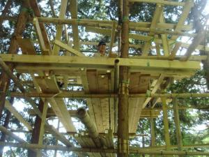 ツリーハウス 建設中 1