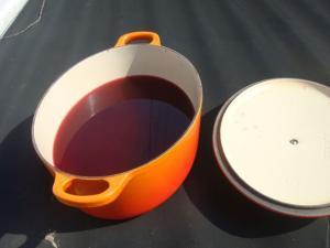 梅酢も土用干し