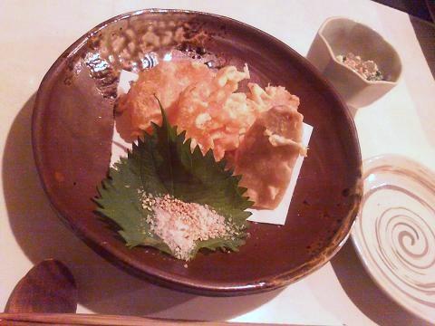 海老芋と大根の天ぷら