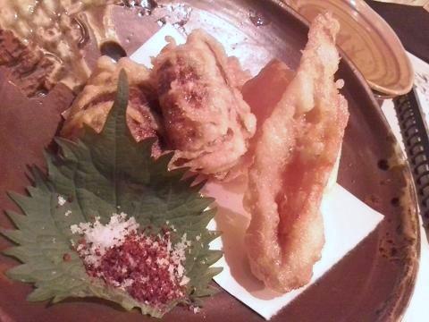 海老芋と大根+ちくわの天ぷら