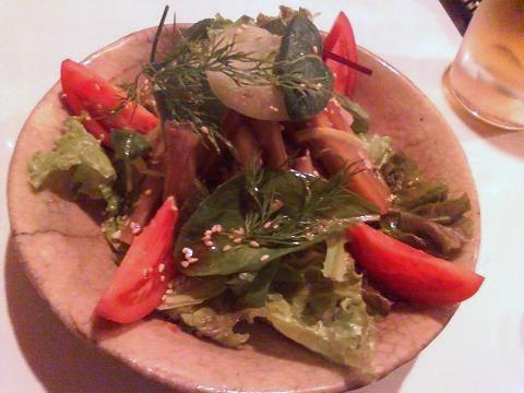 白身魚のツナとごぼうのサラダ