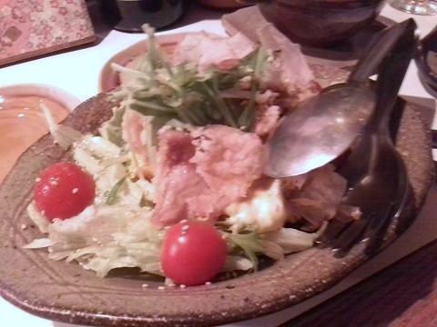 鶏皮南京サラダ