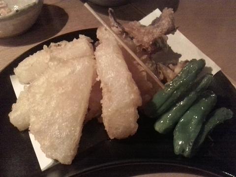 大根と丸十の天ぷら