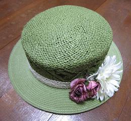 緑カンカン帽