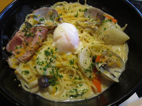 生あさりと冬野菜のよくばりスープスパゲッティー