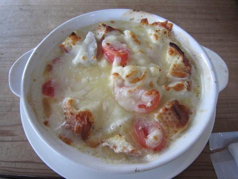 海老と野菜のクリームグラタン
