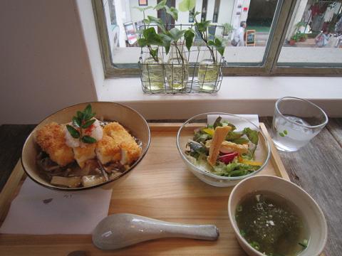 豆腐カツ丼セット