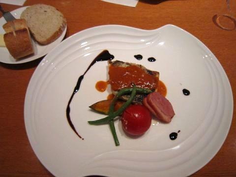 魚料理&パン