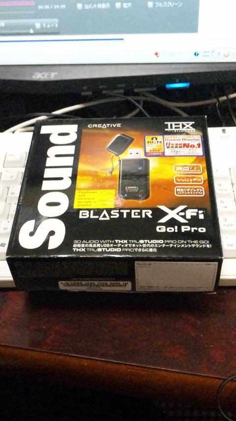 sound blaster X-fi go pro