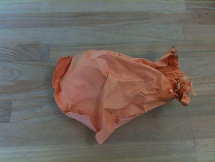 オレンジの袋・・