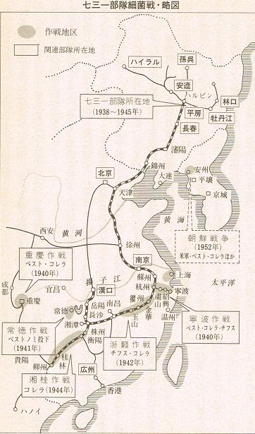731部隊細菌戦・略図