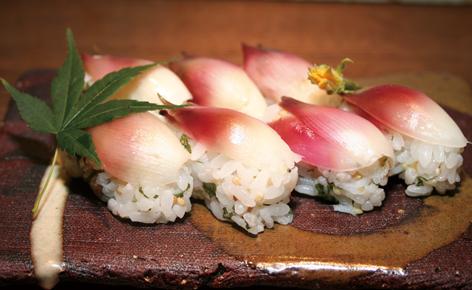 ミョウガ寿司