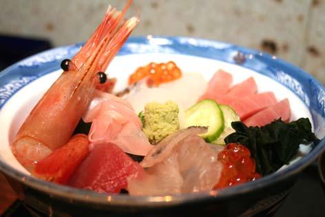 海鮮丼です。
