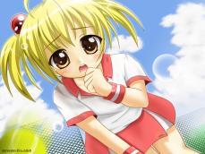 どっかで見たような構図のテニス少女