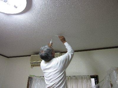 2009・10・25天井貼り