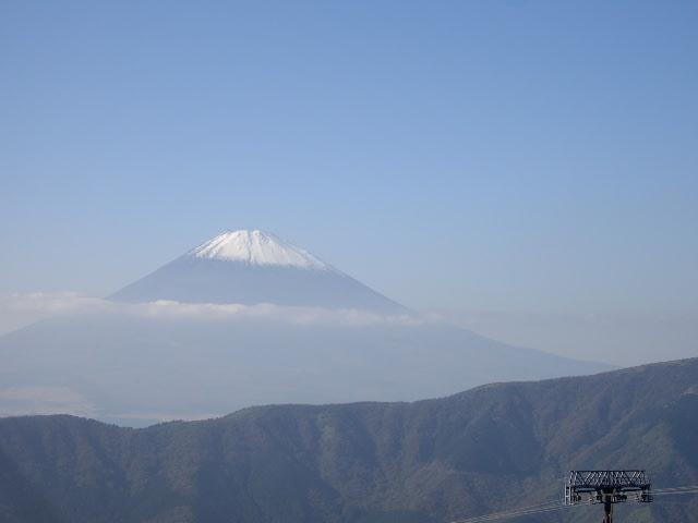 大涌谷から見た富士山