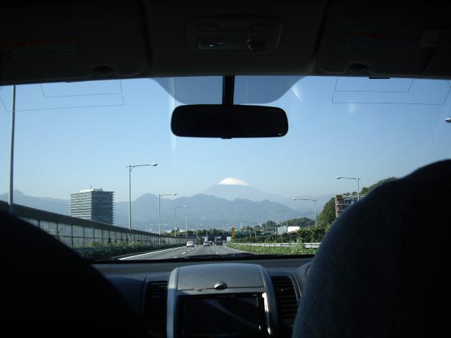車の中から富士山見えたよ