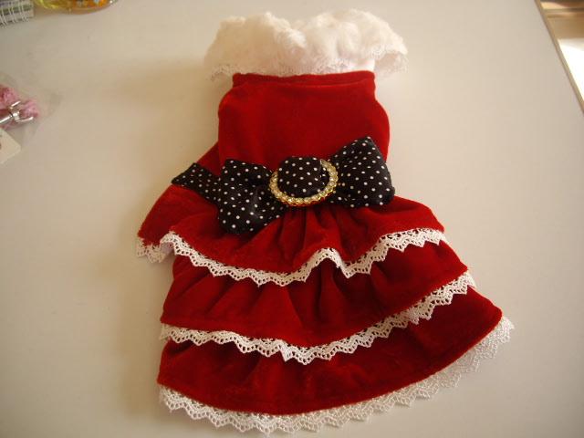 クリスマスサンタリボンドレス