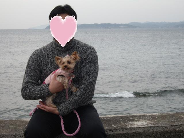 コピー ~ パパとノンちゃん一緒に海で