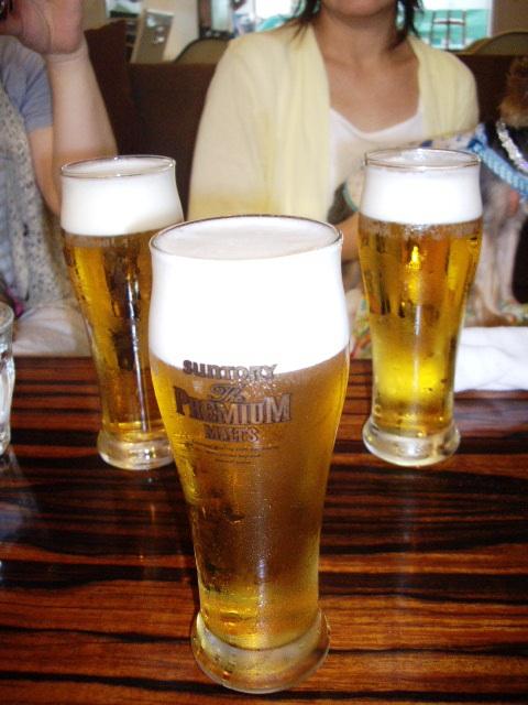 ビールで乾杯~