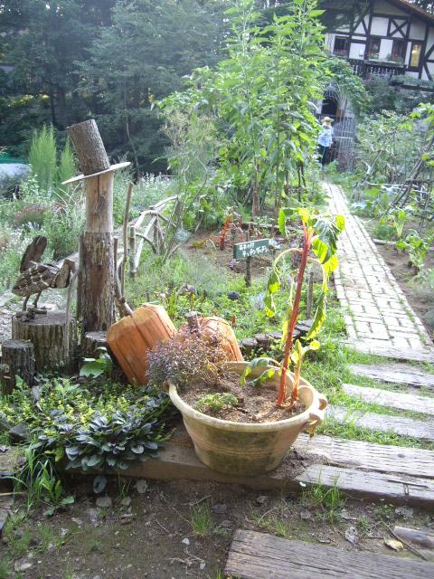 木で作られている野菜