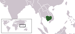 カンボジア所在地