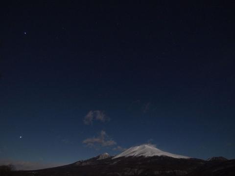 夜の浅間山120208