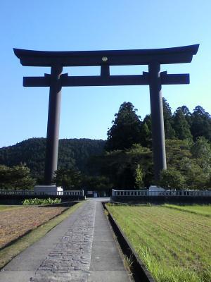 熊野本宮大社旧社地の日本一の鳥居