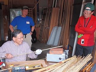 竹竿作り、市橋先生