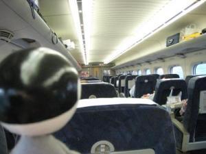 サイトウさん新幹線に乗る1