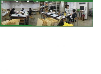 B-2教室は卒制モードに模様替え