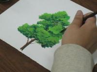 アニメーション背景で樹木の描き方を学んでます6