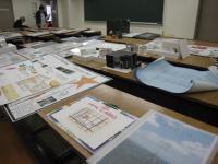 インテリアデザインの学生の作品は立体のモデル作品もあります。