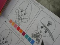 キャラクターを使って配色の学習