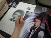 写真模写鉛筆デッサン1